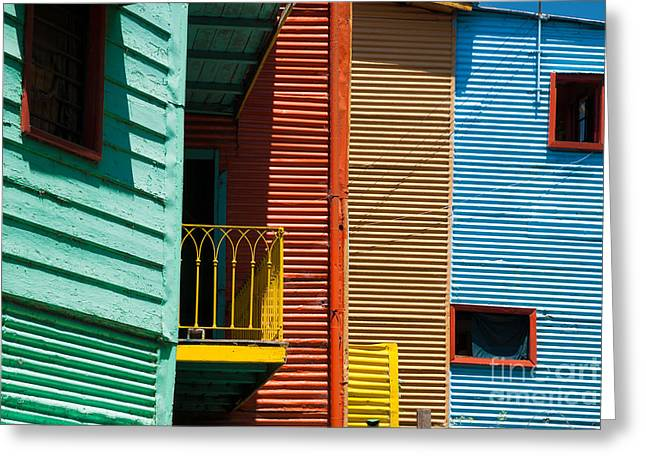 Colourful Houses In The Colourful Quarter Of La Boca - Buenos Air Greeting Card by OUAP Photography