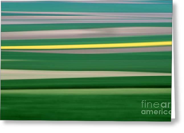Colourful Landscape Greeting Card by Bernard Jaubert