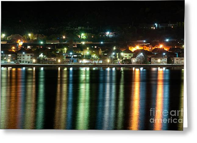 Colourful Night Greeting Card by Ciprian Kis