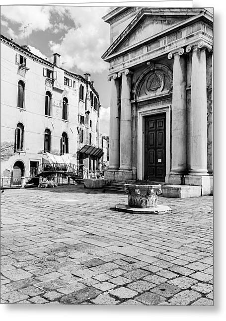 Colourless Venice Greeting Card