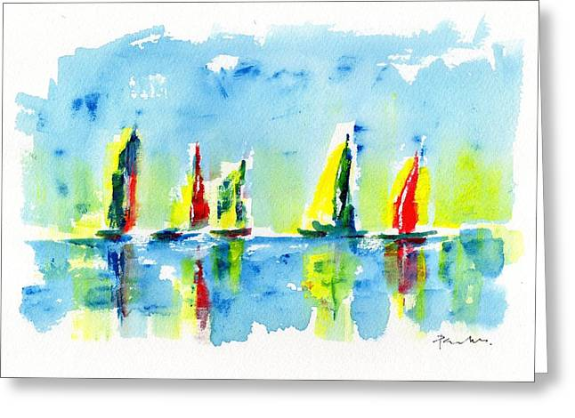 Colours Greeting Card by Paul K Taylor