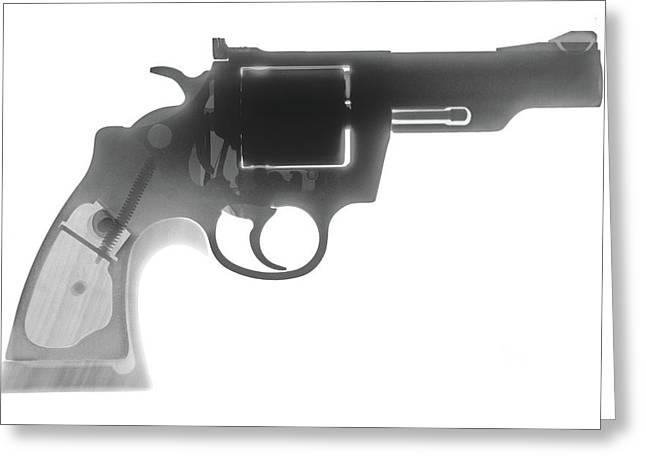 Colt 357 Magnum X Ray Photograph Greeting Card by Ray Gunz