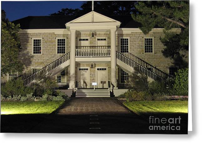 Colton Hall At Night Greeting Card