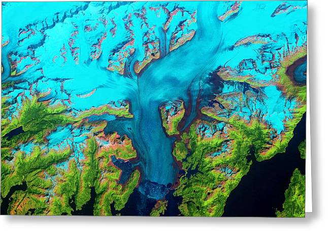 Columbia Glacier, Alaska, 1986 Greeting Card by Science Photo Library