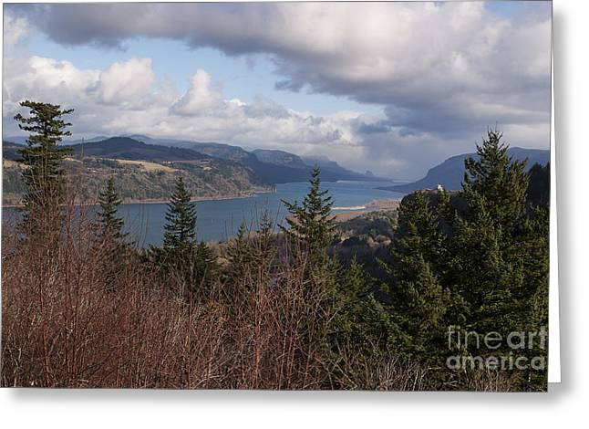 Greeting Card featuring the photograph Columbia Gorge by Belinda Greb