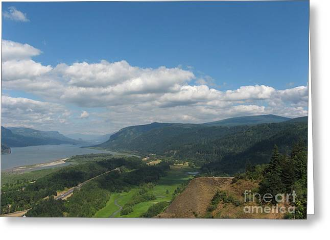Columbia River Gorge Greeting Card by Marlene Rose Besso