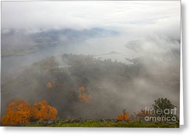 Columbia River Hidden Greeting Card by Mike  Dawson