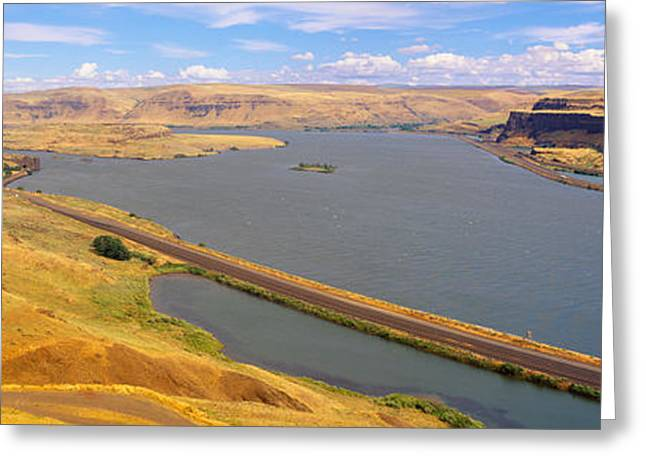 Columbia River In Oregon, Viewed Greeting Card by Panoramic Images