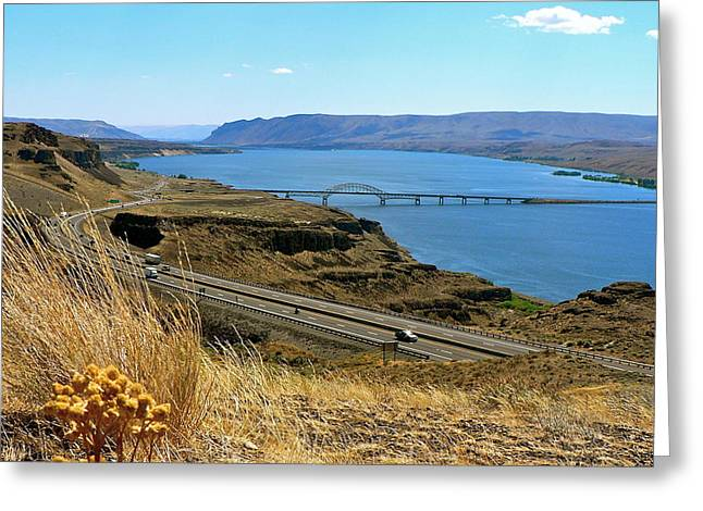 Columbia River Vantage Point Greeting Card