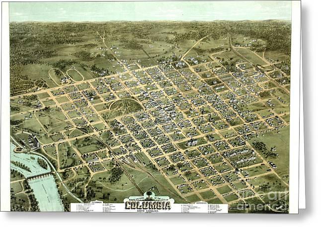 Columbia South Carolina 1872 Greeting Card by Padre Art