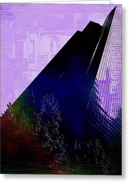 Columbia Tower Cubed 4 Greeting Card by Tim Allen