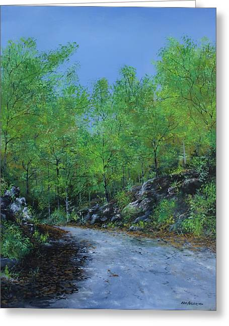 Columbia Trail Greeting Card by Ken Ahlering