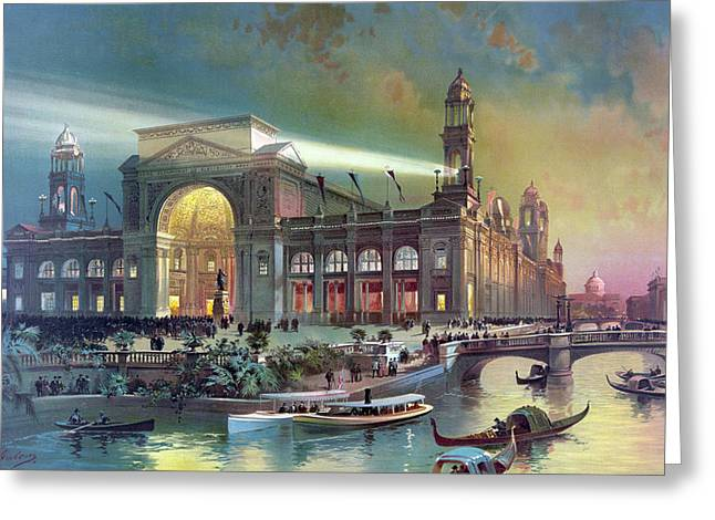 Columbian Expo, Electricity Building Greeting Card by Science Source