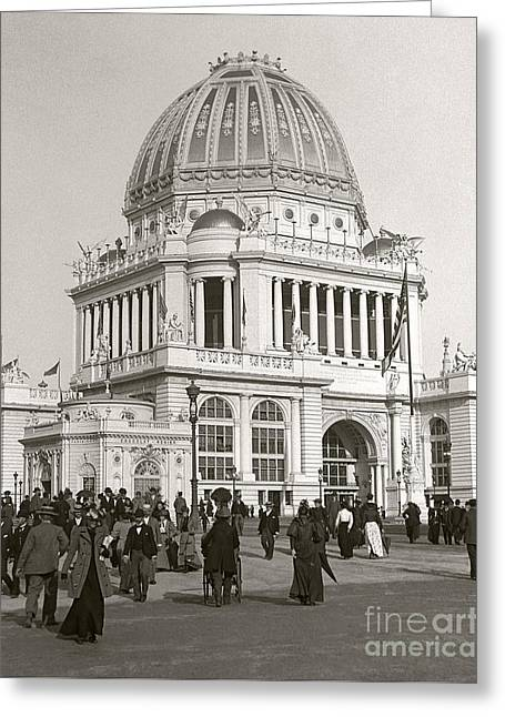 Greeting Card featuring the photograph Columbian Exposition Chocolat 1893 by Martin Konopacki Restoration
