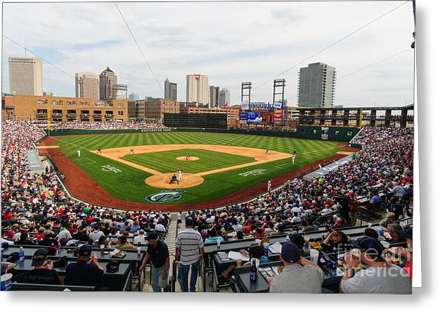 D24w-295 Columbus Clippers Photo Greeting Card