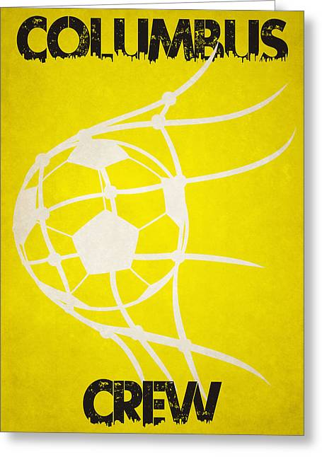 Columbus Crew Goal Greeting Card by Joe Hamilton