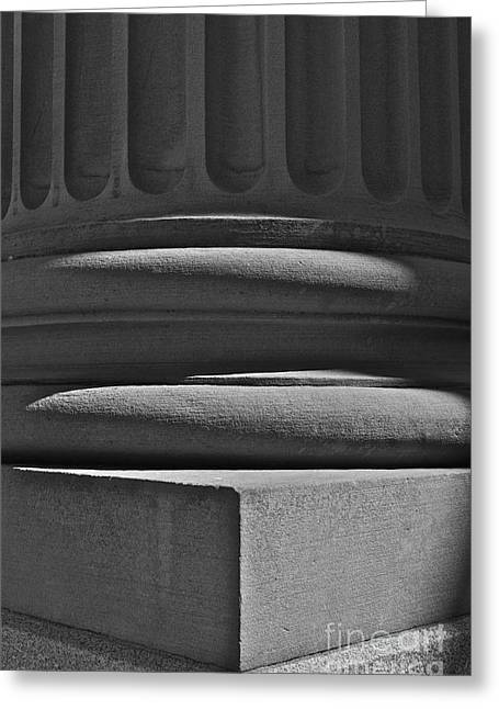 Greeting Card featuring the photograph Column 1 by Linda Bianic
