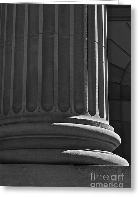 Greeting Card featuring the photograph Column 2 by Linda Bianic