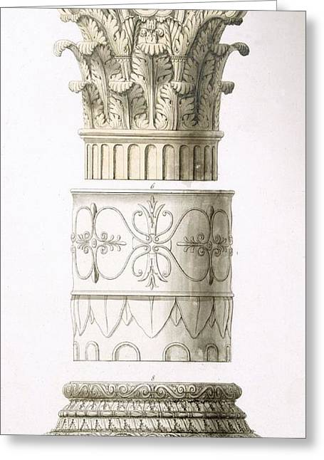 Column And Capital Greeting Card