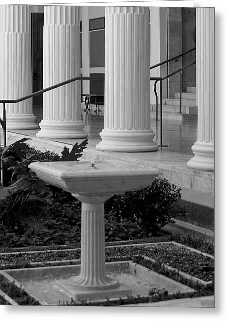 Column Entrance Greeting Card by Ivete Basso Photography