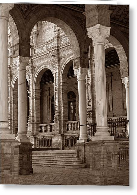 Columns And Arches Greeting Card