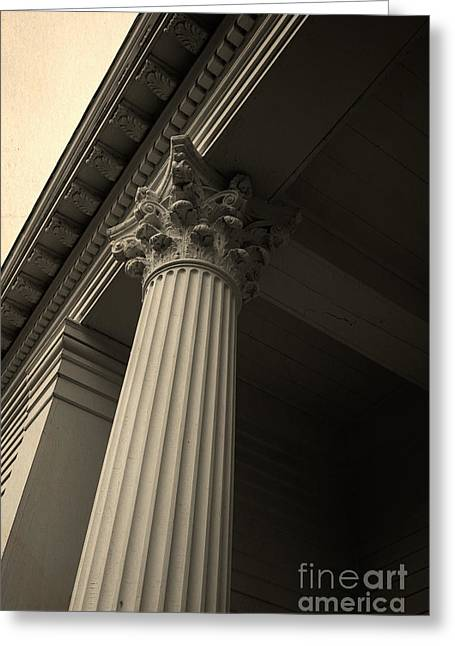 Columns Greeting Card by Edward Fielding