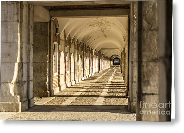 Columns In Aranjuez Greeting Card