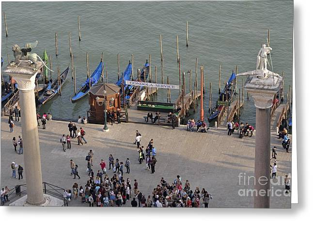 Columns Of San Marco Left And San Teodoro Greeting Card by Sami Sarkis
