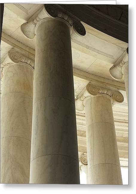 Columns Stand Guard Greeting Card