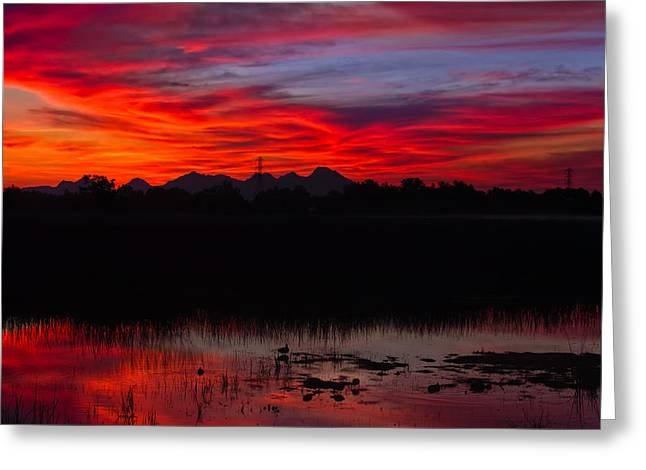 Colusa Sunrise Greeting Card