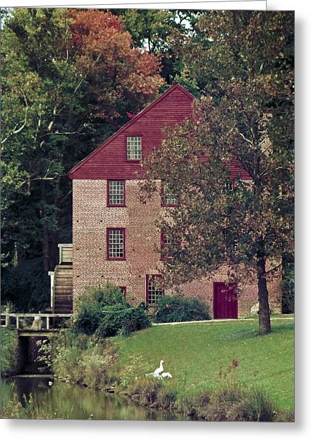 Colvin Run Mill Greeting Card by Greg Reed
