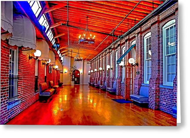 Interior  The Galleria Red Bank    Greeting Card