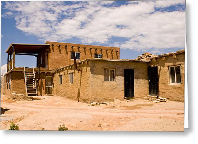 Acoma Pueblo Home Greeting Card by James Gay