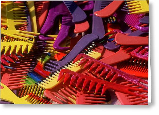 Greeting Card featuring the photograph Combs by Rodney Lee Williams