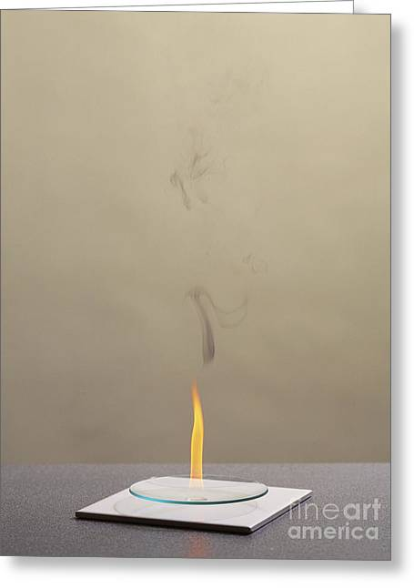 Combustion Of An Alkene Greeting Card by Martyn F. Chillmaid