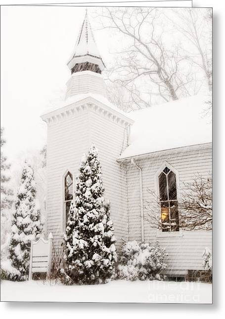 Greeting Card featuring the photograph White Christmas In Maryland Usa by Vizual Studio