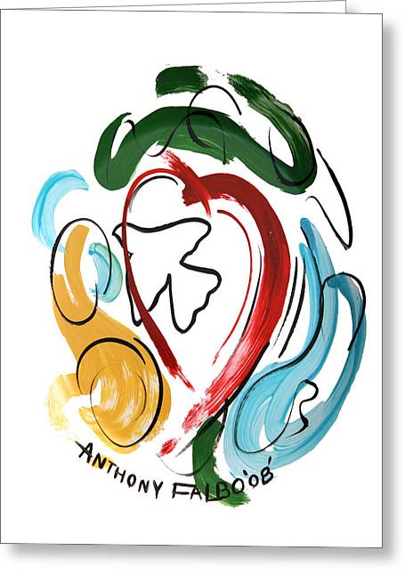Greeting Card featuring the painting Come Into My Heart by Anthony Falbo