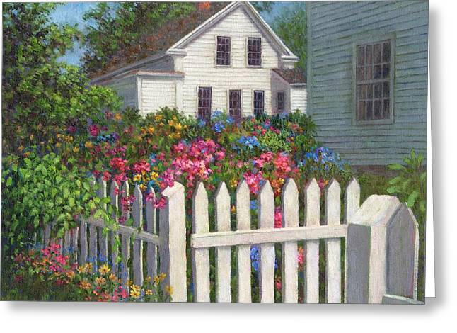 Come Into The Garden Greeting Card by Susan Savad