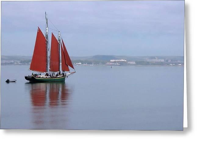 Come Sail Away Greeting Card by Karol Livote