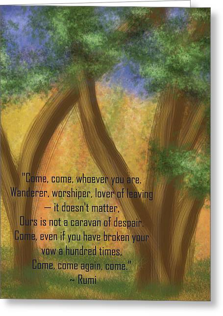 Come Whoever You Are Greeting Card by Linda Marcille