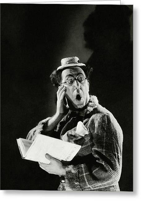 Comedian Ed Wynn Looking Shocked Greeting Card by Edward Steichen