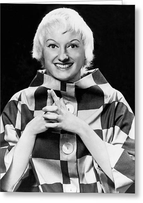 Comedienne Phyllis Diller Greeting Card