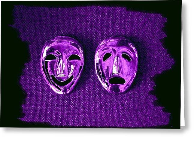 Comedy And Tragedy Masks 2 Greeting Card