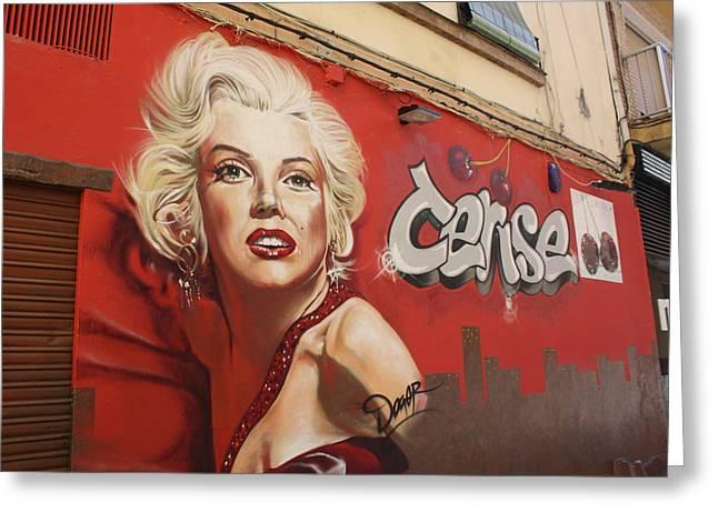 comercial grafity Malaga Greeting Card by Jan Katuin