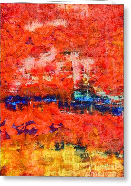 Comes From Within Abstract Greeting Card by Edward Fielding