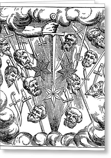 Comet, 1528 Greeting Card