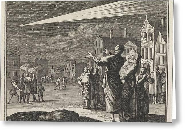 Comet, Caspar Luyken, Christoph Weigel Greeting Card