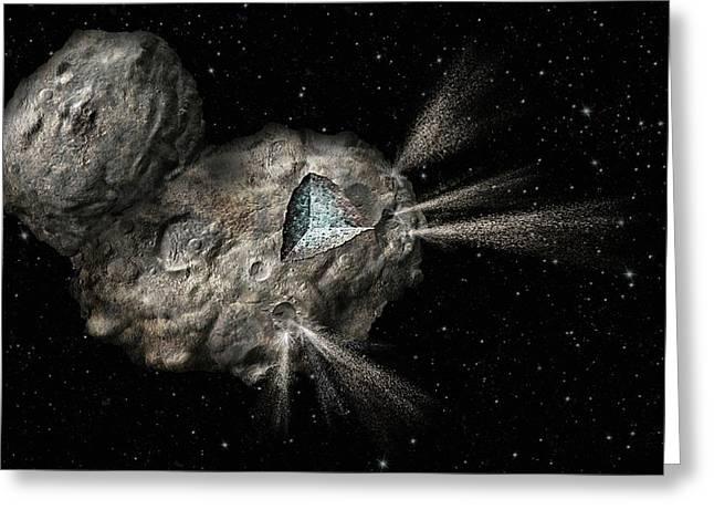 Comet Churyumov-gerasimenko Greeting Card