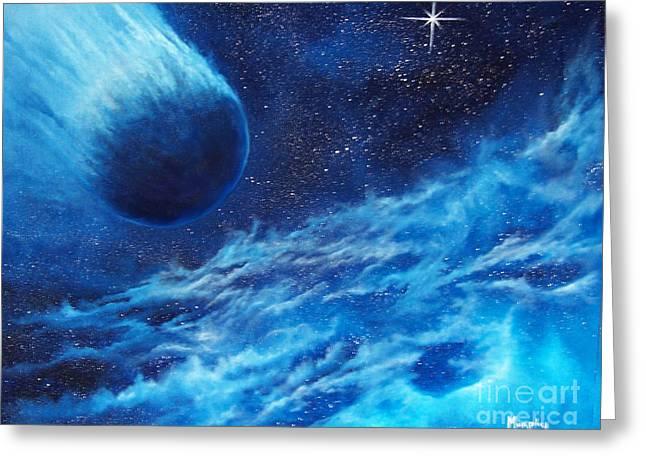 Comet Experience Greeting Card by Murphy Elliott