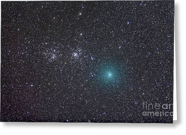 Comet Hartley 2 As It Approaches Greeting Card by Alan Dyer